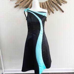 Gunne Sax Jessica McClintock black formal dress